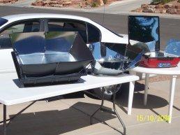 Solar box cooker, solar panel cooker