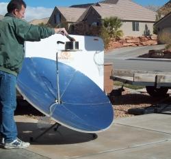 Solar Parabolic winter frying
